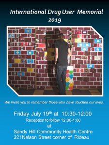 Poster for the 2019 drug user's memorial